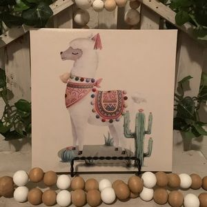Farmhouse Lama canvas picture decor